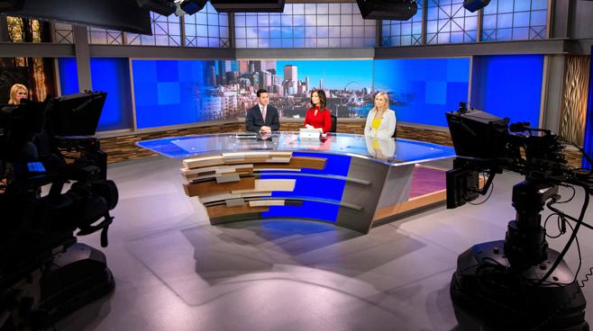 KCPQ - Seattle, WA - News Sets Set Design - 1