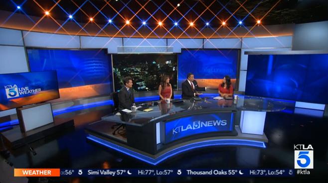 KTLA - Los Angeles, CA - News Sets Set Design - 1