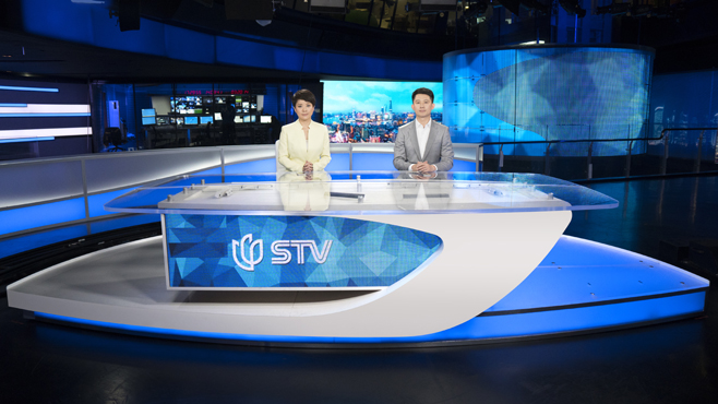 SMG-STV - Shanghai, China - News Sets Set Design - 1