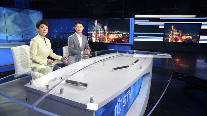 SMG-STV - Shanghai, China - News Sets Set Design - 2