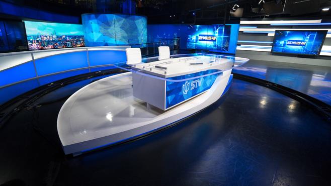 SMG-STV - Shanghai, China - News Sets Set Design - 3