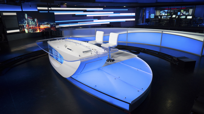 SMG-STV - Shanghai, China - News Sets Set Design - 4