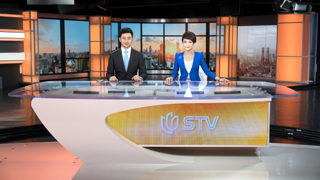 SMG-STV - Shanghai, China - News Sets Set Design - 5