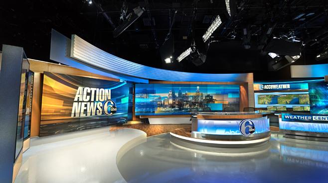 WPVI - Phiadelphia, PA - News Sets Set Design - 1