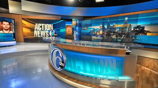 WPVI - Phiadelphia, PA - News Sets Set Design - 3