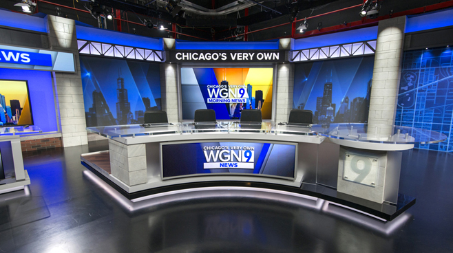 WGN - Chicago, IL - News Sets Set Design - 1