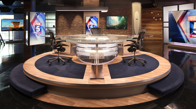 KSWB - San Diego, CA - News Sets Set Design - 5