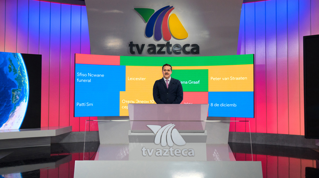 TV Azteca - Mexico City, Mexico - News Sets Set Design - 6