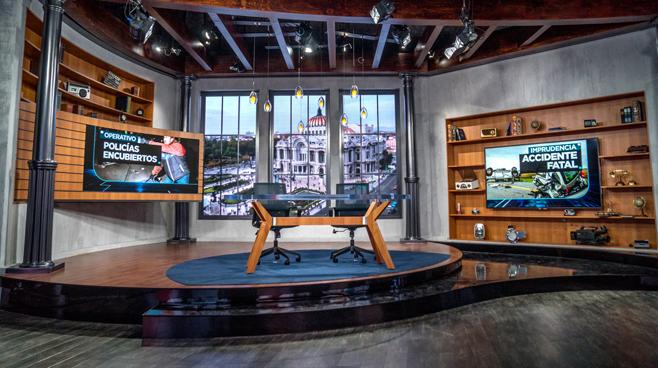 TV Azteca - Mexico City, Mexico - News Sets Set Design - 14